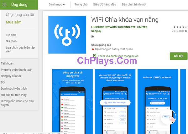 Tải Wifi Chìa Khóa Vạn Năng Cho Android, PC, LapTop