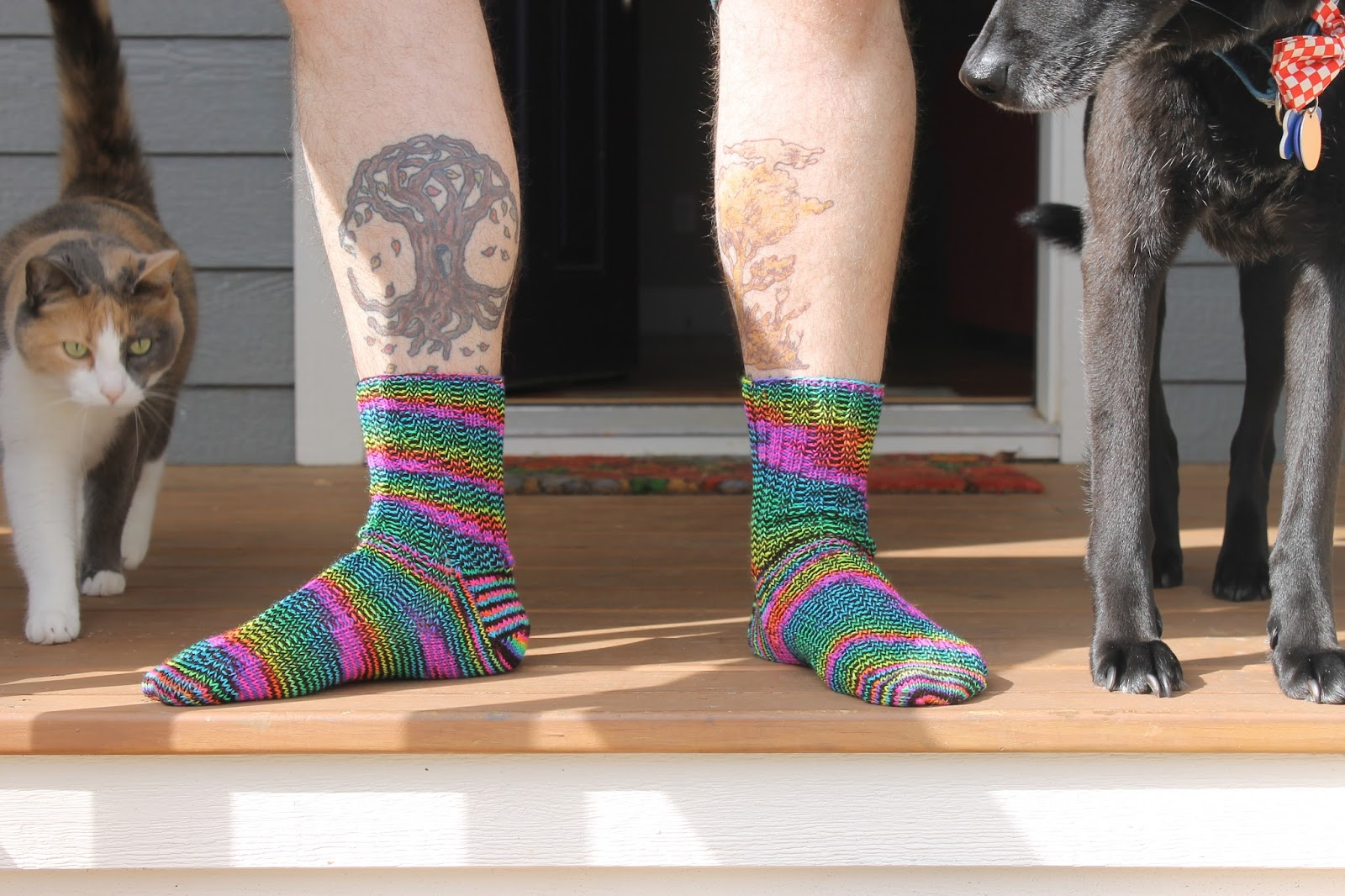 Redhead sock wool