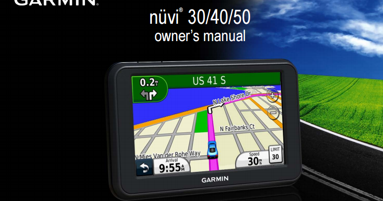 Garmin nuvi 40 user guide.