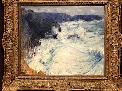 John Rusell painting, Rough Sea, Morestil, 1900