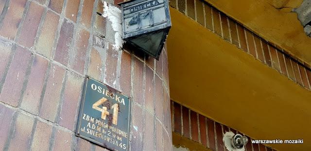 tabliczka Sulejkowska Warszawa Warsaw Praga Południe ulica zabudowa architektura architecture przedwojenne Gocławek