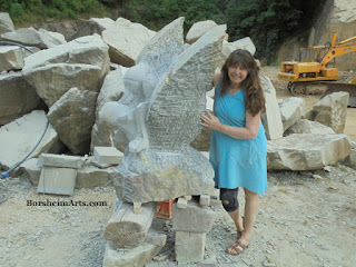 Kelly Borsheim stone carving symposium Vellano Tuscany Italy Pinocchio