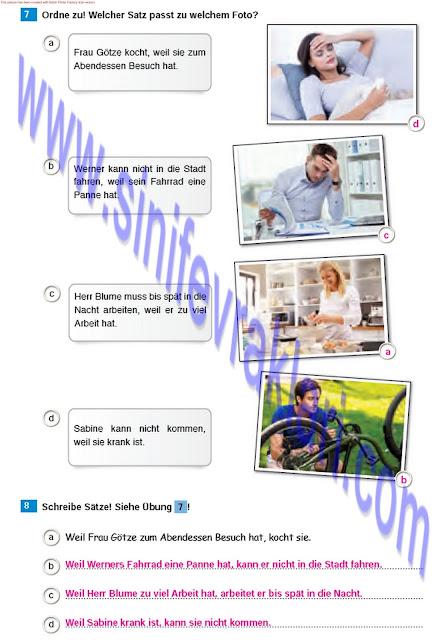 Almanca A1.2 Çıpa Yayınları Çalışma Kitabı Cevapları Sayfa 44