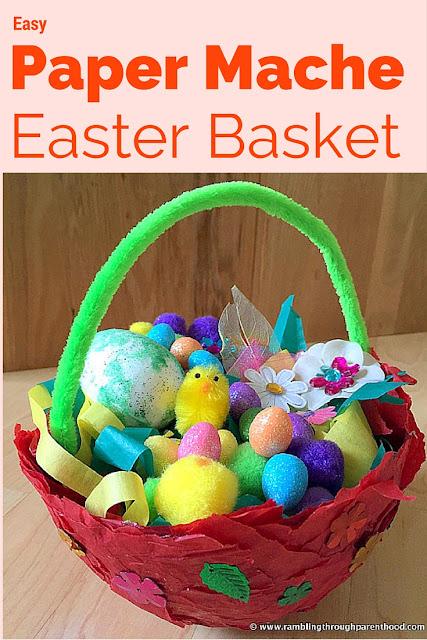 Easy Paper Mache Easter Basket