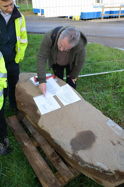 Pictish stone found during roadworks project