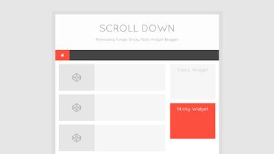 Sticky Widget - Thủ thuật cố định Widget khi cuộn trang sử dụng JS cho Blogspot