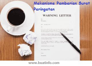 Buat Info - Mekanisme Pemberian Surat Peringatan
