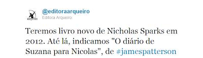 News: Livros de Nicholas Sparks pela Editora Sextante no Brasil 12