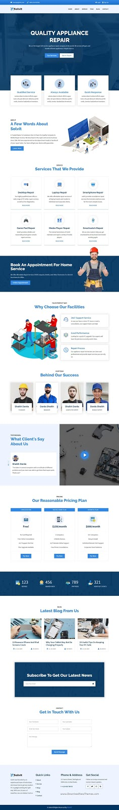 Computer & Mobile Repair HTML Template
