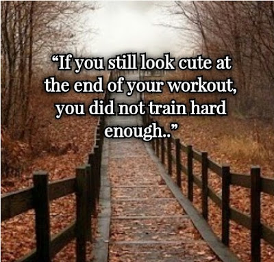 Quotes: If you still look cute at the end of your workout, you did not train hard enough..