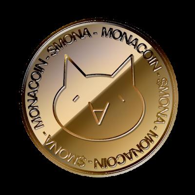 仮想通貨モナコイン(MonaCoin)表面のフリー素材(銅貨ver)