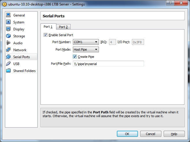 Electronics FAQ: Serial Ports between Ubuntu Guests on a
