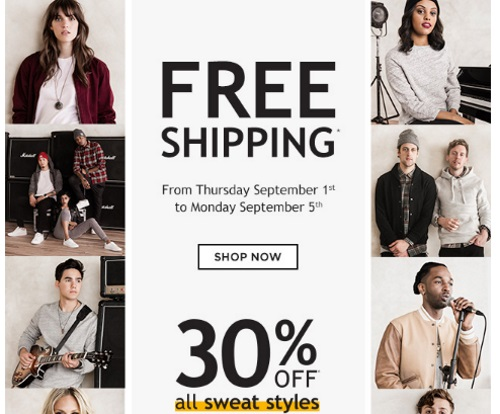 Roots Free Shipping + 30% Off Sweats