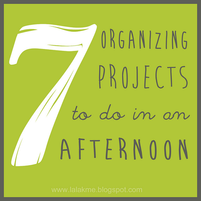 These 7 quick organizing projects can be easily done in a few hours and will help your home feel so much more organized! #overstuffedlife