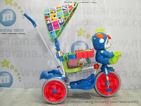 Royal RY17982CJ Baby JacQ Dobel Musik Ban Jumbo Jok Kain Sepeda Roda Tiga