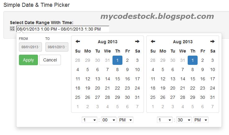 Easy to use Bootstrap Date Range Picker - MyCodeStock