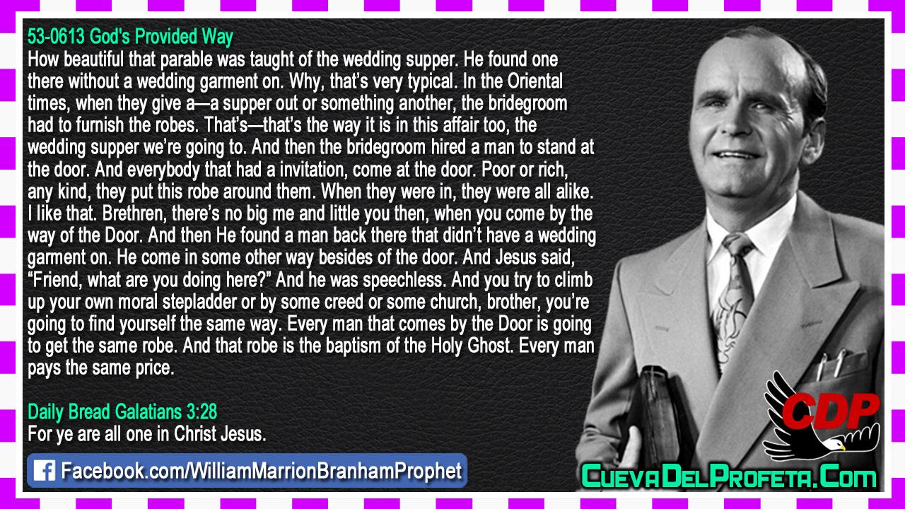 Didn't have a wedding garment on - William Marrion Branham