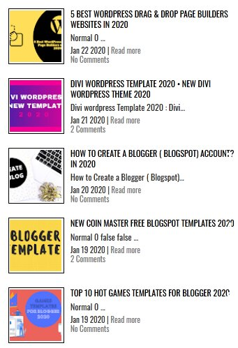 Stylish WordPress Style Recent Post Widgets for Blogger with Smart Image Thumbnails