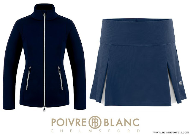 Kate Middleton wore Poivre Blanc blue tennis jacket and Tennis Skirt