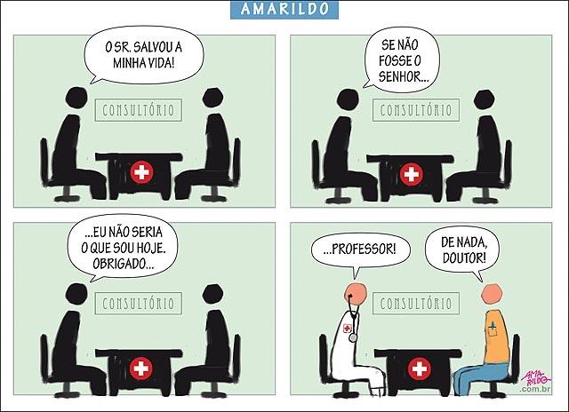 O PROFESSOR NO MÉDICO