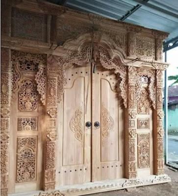 harga pintu gebyok kayu jati