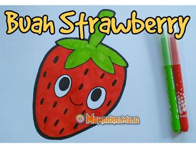 hasil mewarnai buah strawberry