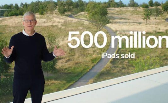 باعت شركة Apple أكثر من 500 مليون جهاز iPad خلال العقد الماضي