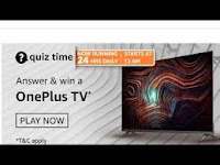 Amazon Quiz Answers Time Daily @ 24 HRS on 21 Feb 2021 Win OnePlus Y Series Android TV