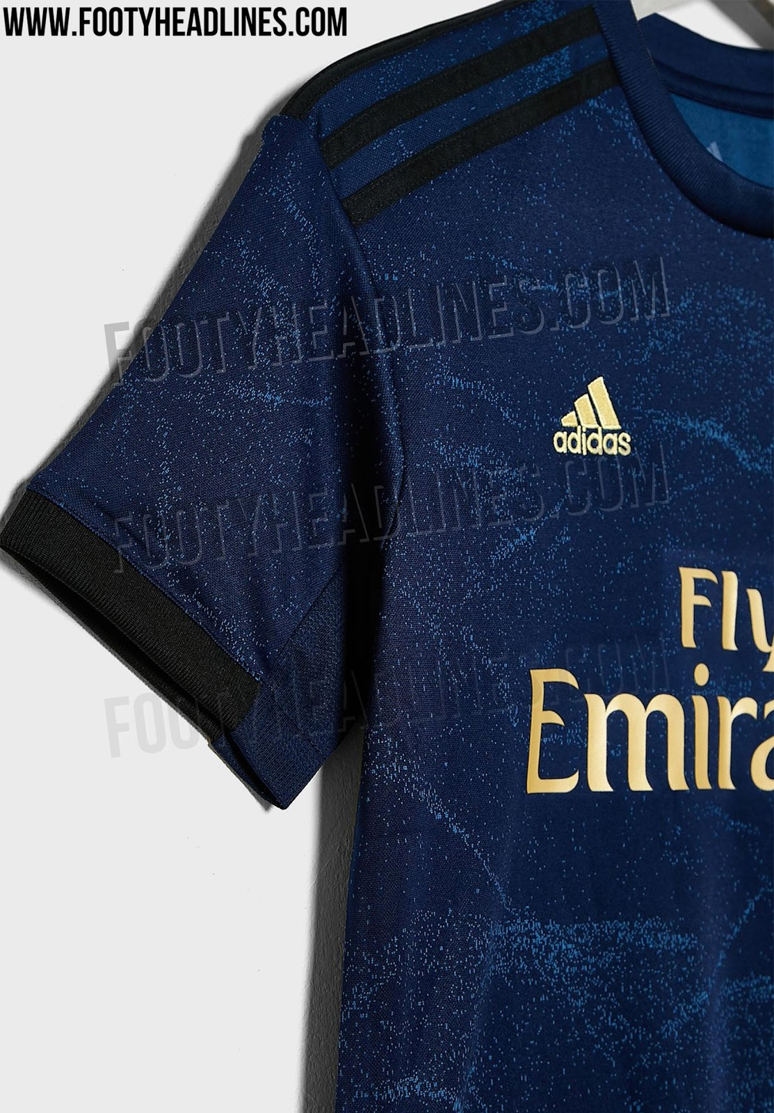 12d65994b The shorts and the socks of the new Real Madrid 2019-2020 away kit will be  navy   gold as well.