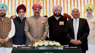 पंजाब में कैप्टन अमरिंदर सिंह ने ली 26वें मुख्यमंत्री के रूप में शपथ, नवजोत सिद्धू बने कैबिनेट मंत्री