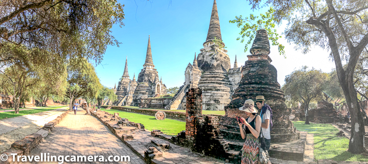 Let's first talk about how to reach Wat Phra Si Sanphet :  Wat Phra Si Sanphet is located at walkable distance from the famous Wat Phra Mahathat, which has world famous Buddha face hugged by roots of a Banyan tree.   If you don't want to walk a lot, there are Tuktuks available to do day tour of various temples in Ayutthaya and one can chose to take tuktuk to move from temple to another temple at your choice of time.    Check out more at - Wat Phra Si Sanphet - Most beautiful temple in Ayutthaya, Thailand