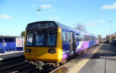 The 11.48am Saturday train preparing to leave Brigg railway station for  Kirton Lindsey, Gainsborough, Retford and Sheffield - see Nigel Fisher's Brigg Blog