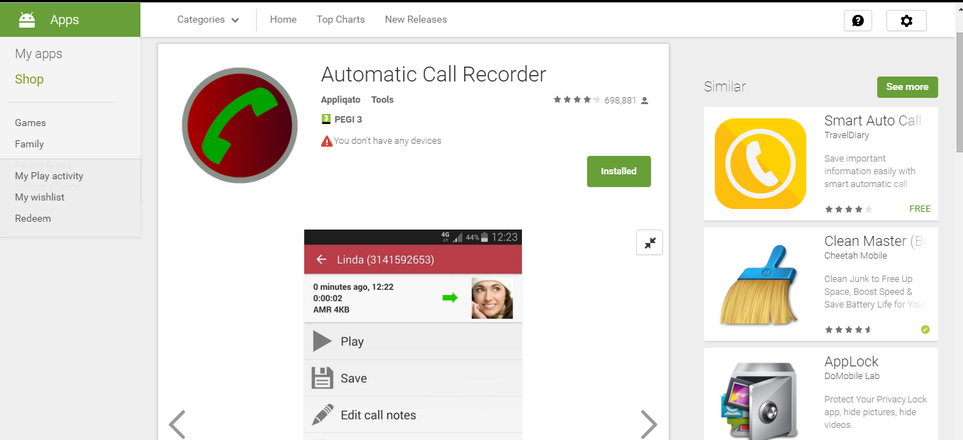 Mobile TechTunes: 'Automatic Call Recoder ' IS FREE GOOD