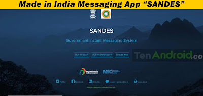 """Made in India Messaging App """"SANDES"""""""