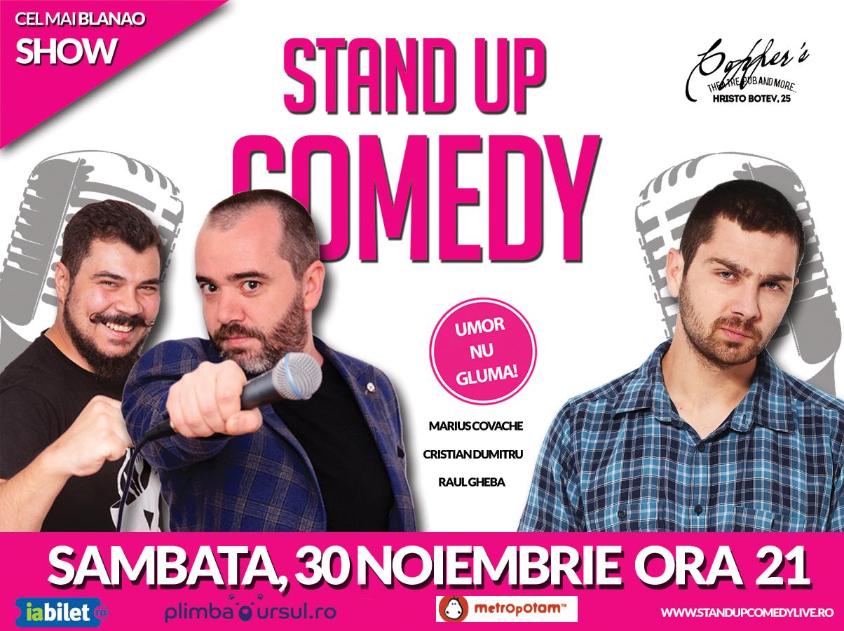 Stand-Up Comedy Bucuresti Sambata 30 Noiembrie 2019