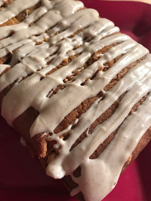 White Chocolate Pumpkin Spice Snack Cake
