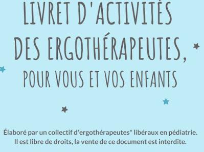 livret d'activités des ergothérapeutes, avec des activités faciles à faire
