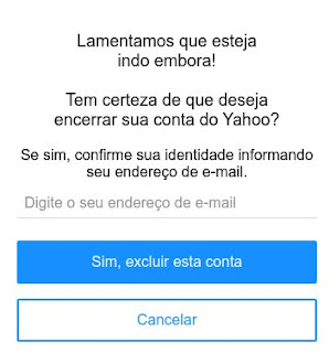Como remover o e-mail do Yahoo