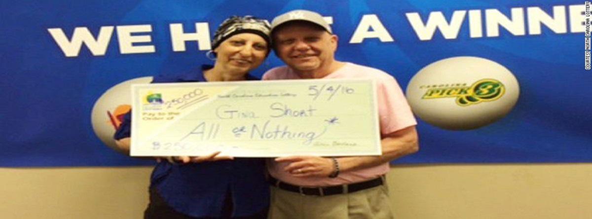 Mujer con cáncer gana la lotería dos veces