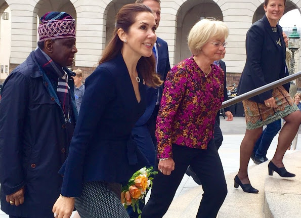 Crown Princess Mary attends the meeting of Women Deliver 2016 in Copenhagen