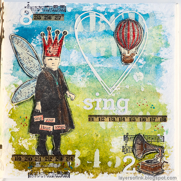 Layers of ink - Sing Art Journal Page by Anna-Karin Evaldsson.