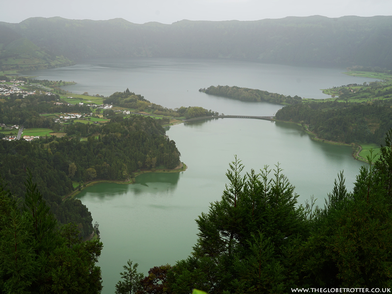 The twin lakes of Sete Cidades