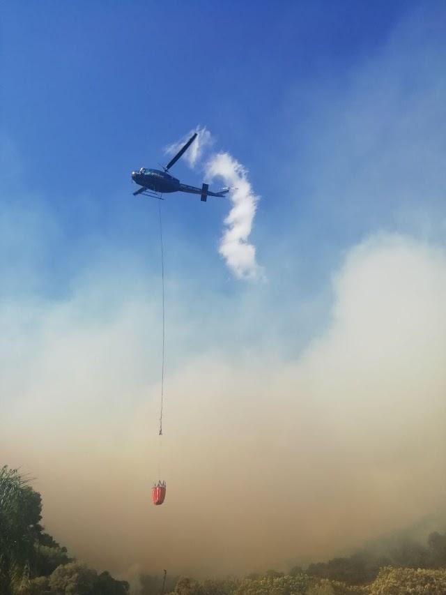 Combaten incendio en el paraje Los Charcos en el municipio de Zapopan