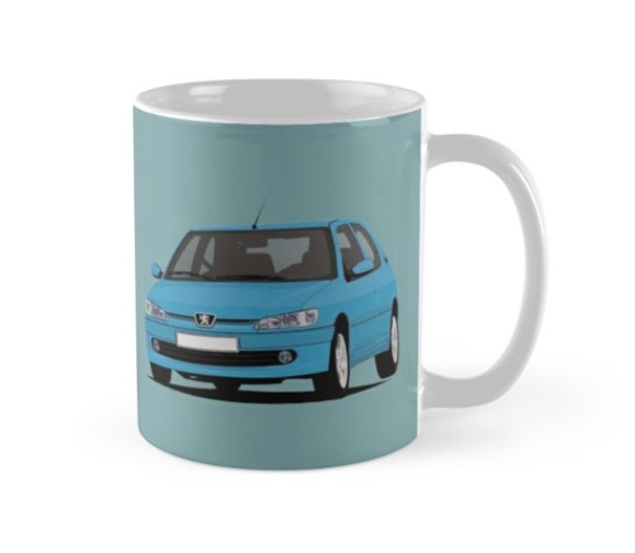 Peugeot 306 GTi-6 car illustration coffee mug