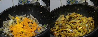 KATHIRIKKAI KARI(Brinjal Fry)- எண்ணெய் கத்திரிக்காய் கறி ரெசிபி