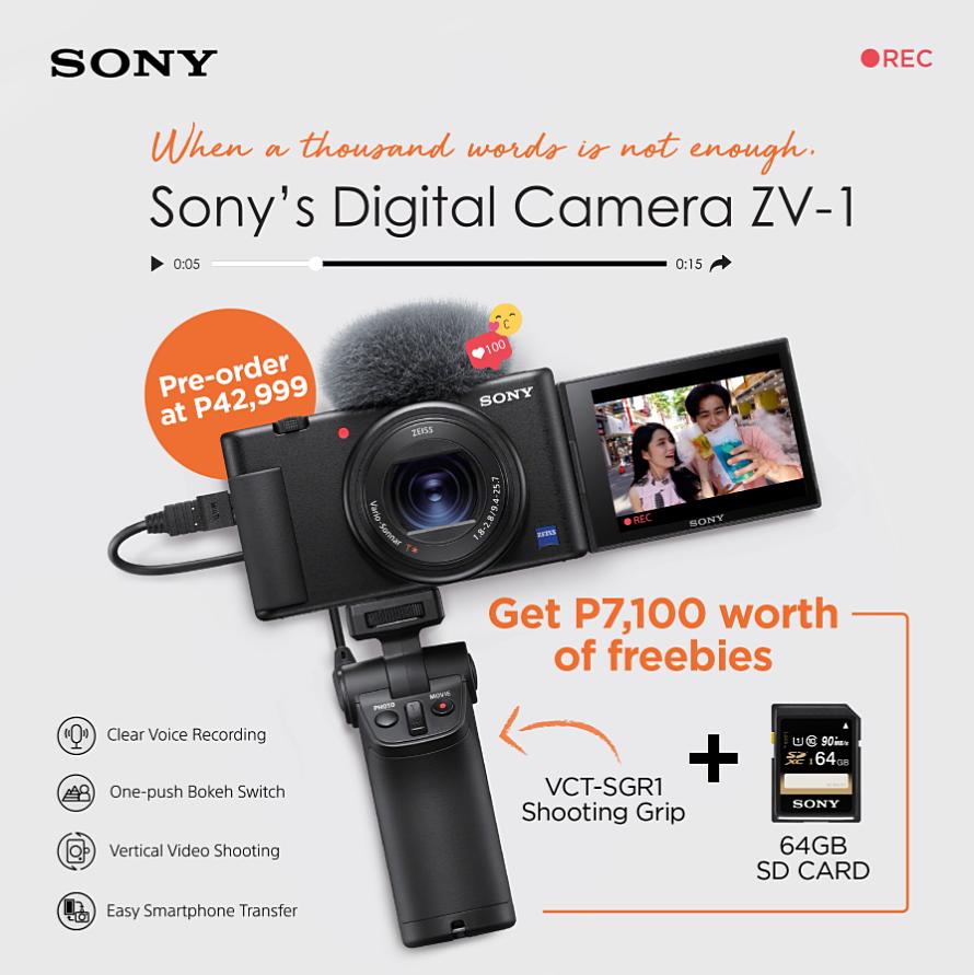 Sony ZV-1 Philippines, Sony ZV-1 Vlogging Camera, Camera for Youtube Video Creation