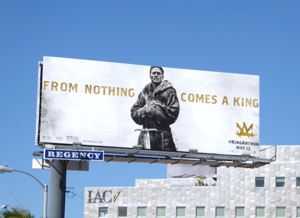 King Arthur Legend Sword movie billboard