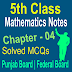 5th Class Mathematic Chapter 4 MCQs Notes