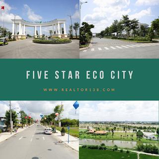 đất nền khu đô thị Five Star Eco City đường Đinh Đức Thiện