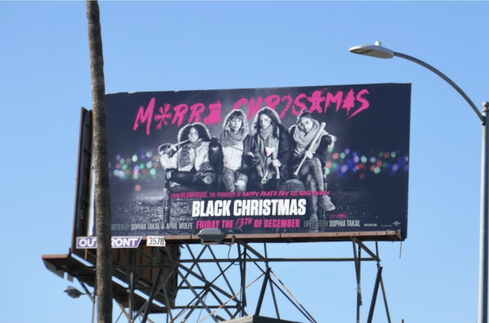 Black Christmas movie remake billboard
